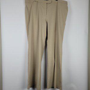 NWT Lane Bryant Tan Stretch Wide Leg Pants 26 Tall